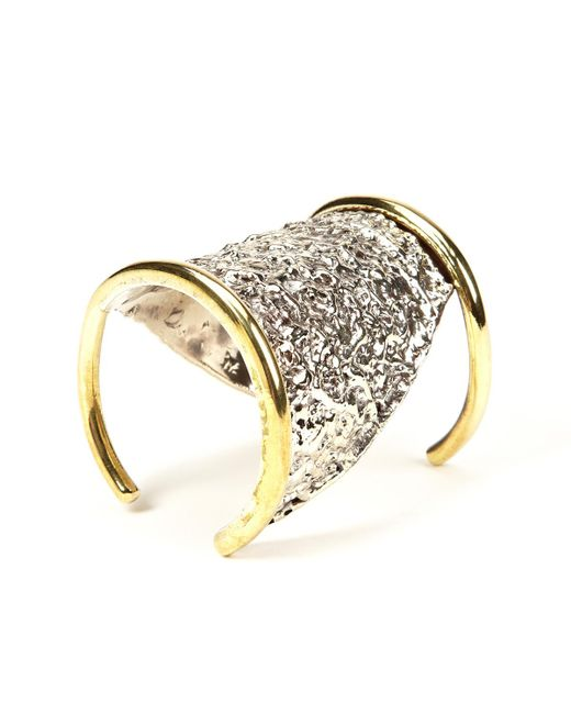 Anndra Neen | Metallic Cut Out Melted Cuff | Lyst