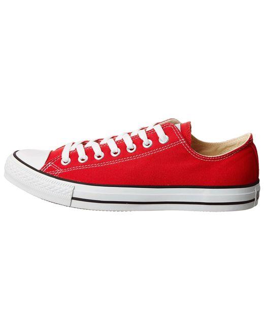 b57ceddc9da1 Lyst - Converse Chuck Taylor Ox in Red for Men - Save 9%