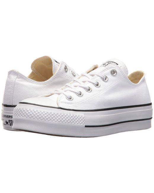 583ca7768ea2de Lyst - Converse Chuck Taylor All Star Lift Ox in White - Save 25.0%