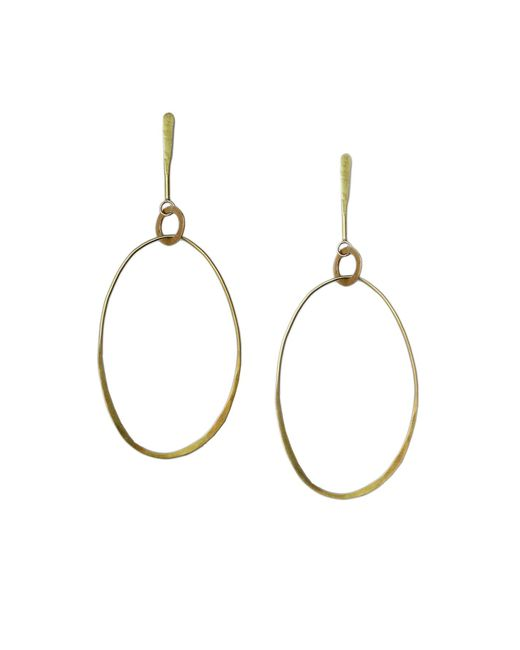 Velvet By Graham & Spencer - Metallic Alexa Hoops By Bluma Project - Lyst