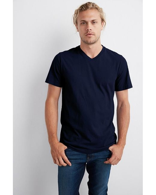 Velvet By Graham & Spencer | Blue Samsen Whisper Classic V-neck Tee for Men | Lyst