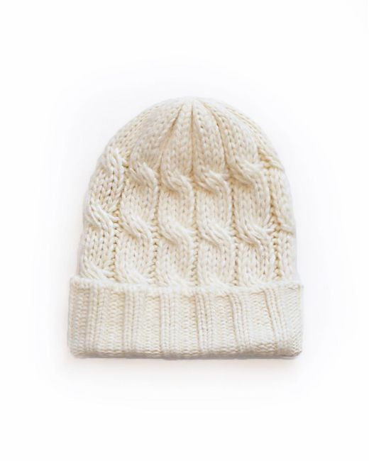 Veronica Beard - White Forde Cable Hat - Lyst