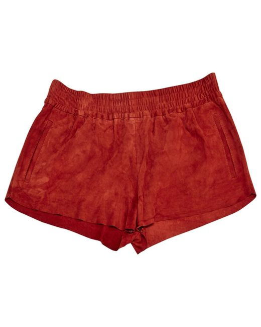 Maje - Red Pre-owned Mini-shorts - Lyst