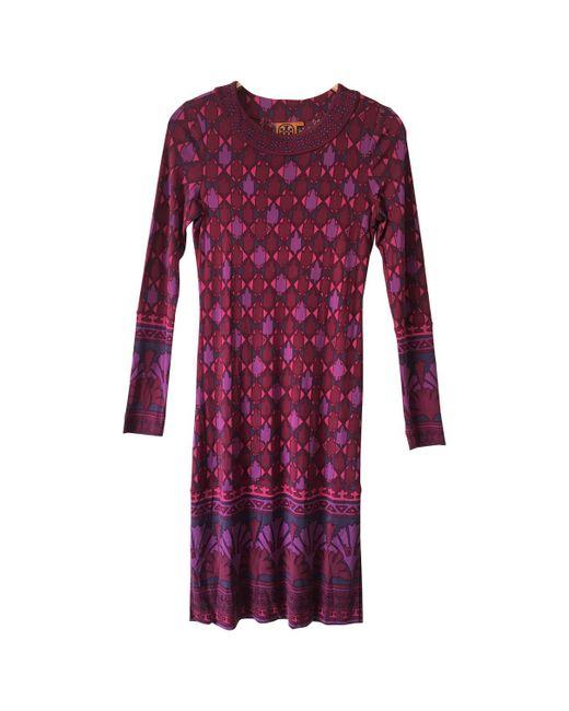 Tory Burch - Red Silk Mid-length Dress - Lyst