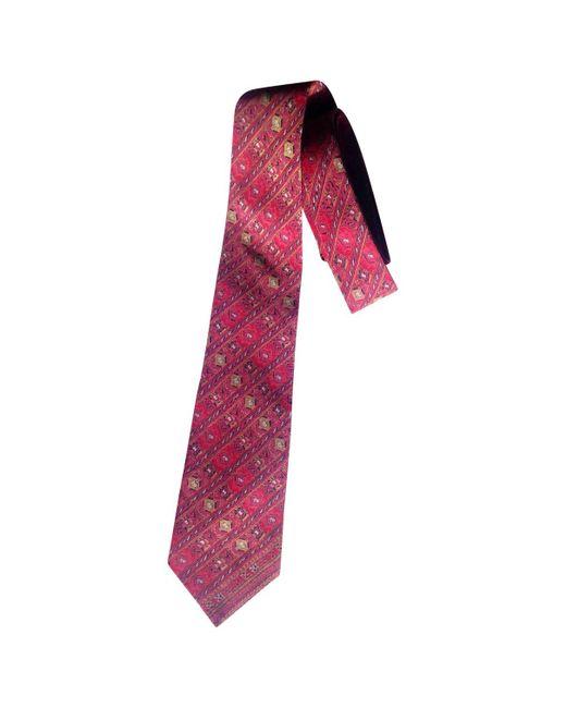 Lanvin - Red Silk Tie for Men - Lyst