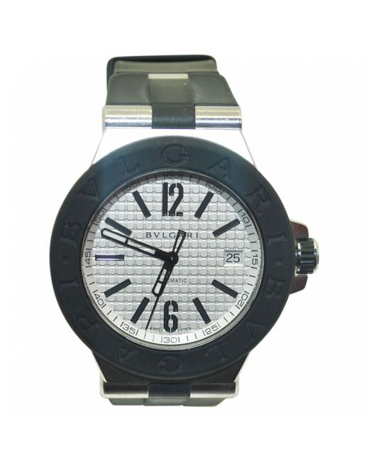 BVLGARI - Black Pre-owned Diagono Watch - Lyst