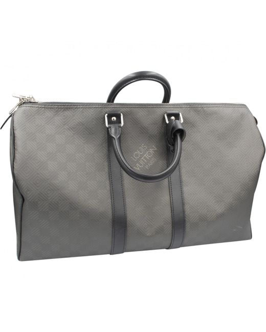 74e04d3aee86 Louis Vuitton Keepall Grey Synthetic Bag in Gray for Men - Lyst
