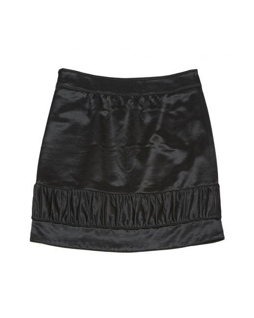 cbc76e5310 ... Burberry - Black Wool Skirt - Lyst ...