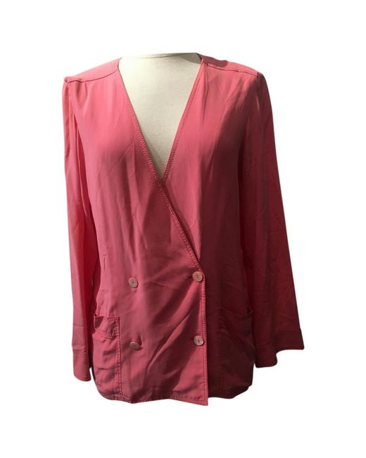 Chanel - Pink Pre-owned Silk Blouse - Lyst