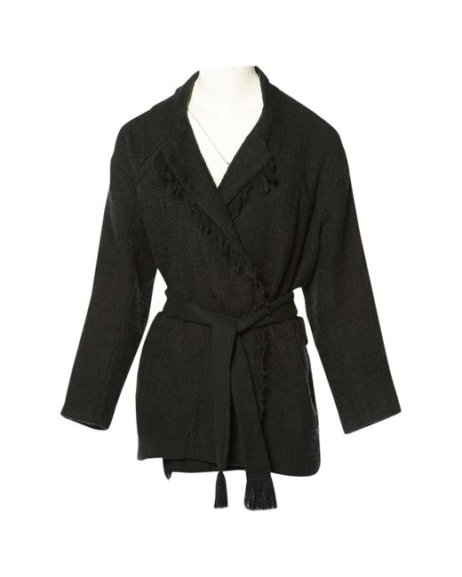 IRO - Pre-owned Black Cotton Coats - Lyst