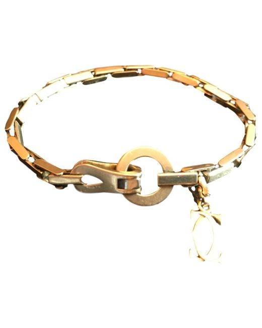 Cartier - Metallic Pre-owned Vintage Agrafe Gold Yellow Gold Bracelets - Lyst