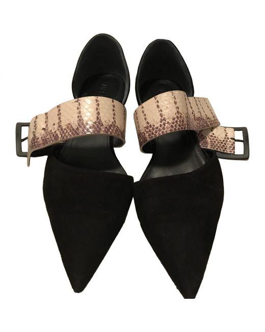 Jil Sander - Black Leather Ballet Flats - Lyst