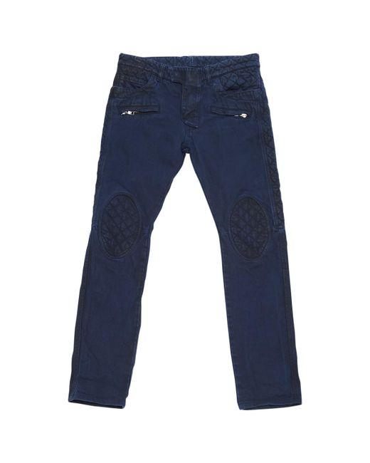 Balmain - Blue Straight Jeans for Men - Lyst
