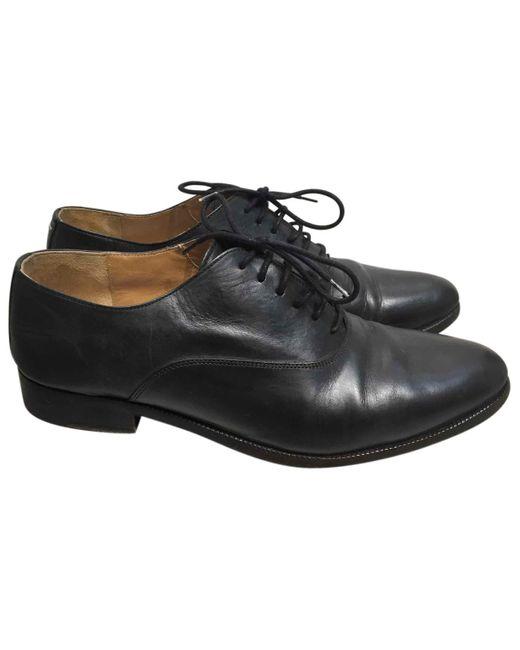 Maison Margiela - Black Leather Lace Ups - Lyst