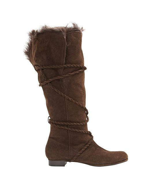 Moschino - Brown Boots - Lyst