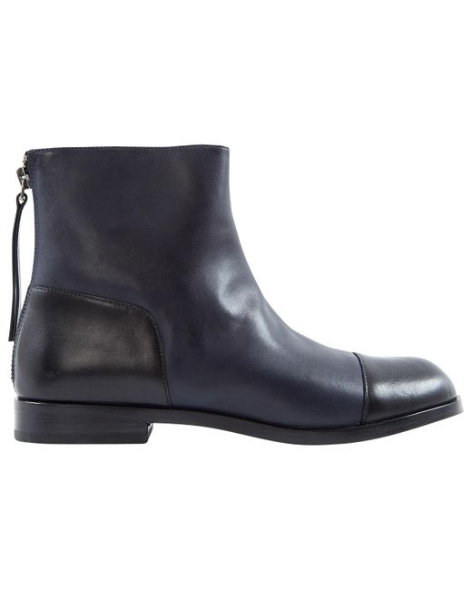 Marc By Marc Jacobs - Blue Pre-owned Navy Leather Ankle Boots - Lyst