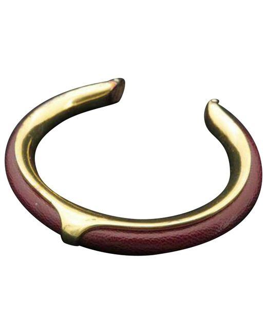 Hermès - Brown Leather Bracelet - Lyst
