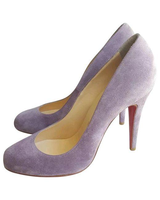 Christian Louboutin | Purple Pre-owned Simple Pump Heels | Lyst