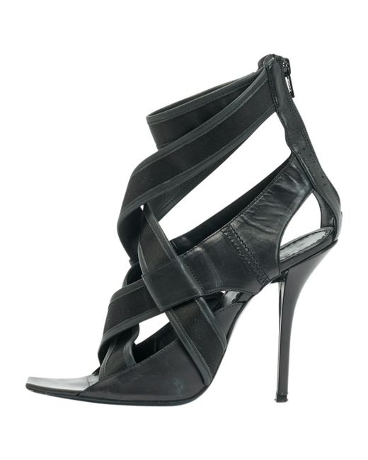 Givenchy | Black Pre-owned Sandals | Lyst