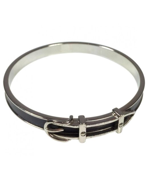 Hermès - Metallic Ceinture Silver Metal Bracelets - Lyst