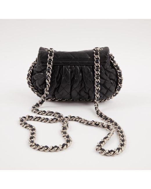 08a1923b3556 ... Chanel - Black Leather Crossbody Bag - Lyst