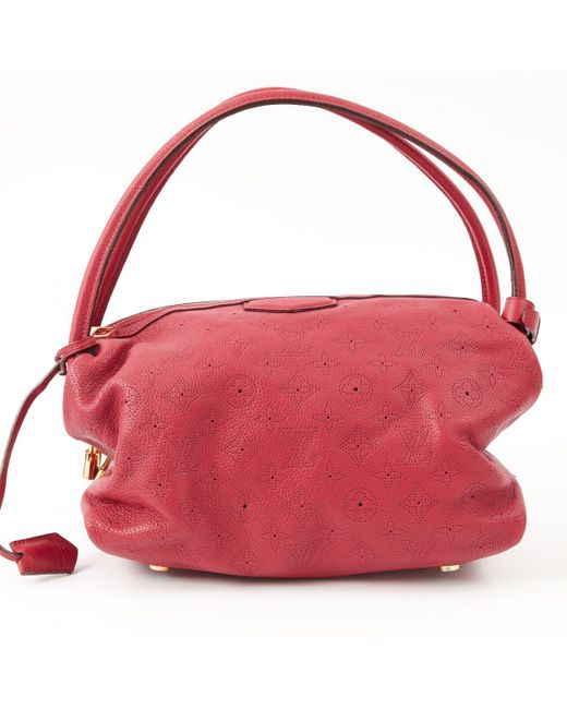 Louis Vuitton - Pink Pre-owned Mahina Leather Handbag - Lyst