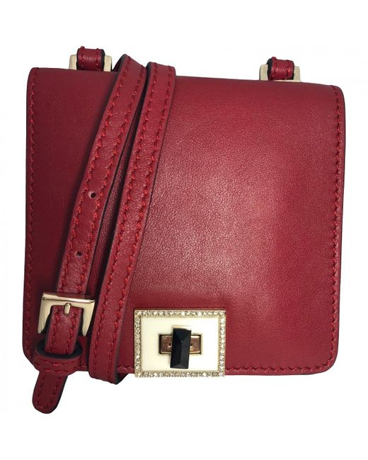 1b2582b2e1 Valentino - Multicolor Pre-owned Burgundy Leather Handbags - Lyst