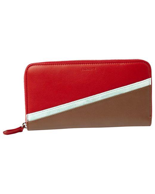 Jil Sander - Red Multicolour Leather Wallets - Lyst