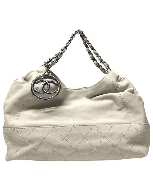 Chanel - Metallic Coco Cabas Leather Handbag - Lyst