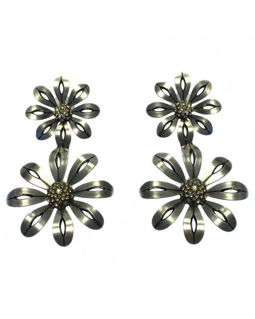 Lanvin - Metallic Silver Metal Earrings - Lyst