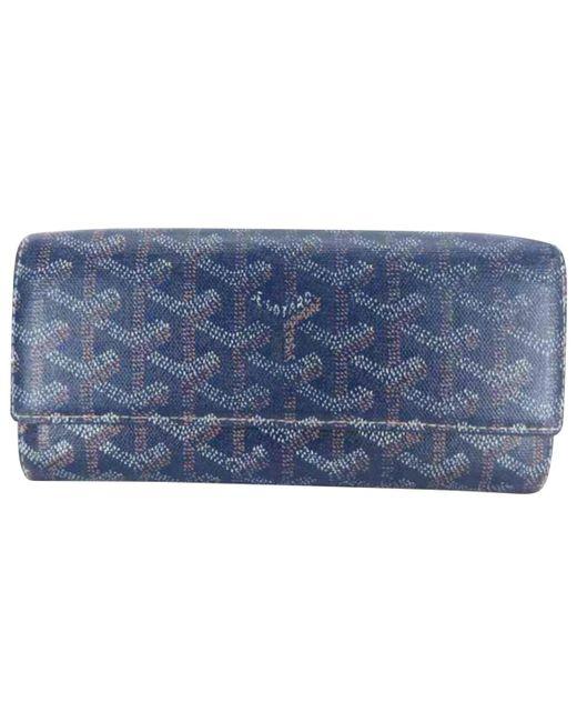 Goyard - Blue Cloth Wallet - Lyst