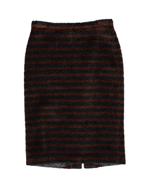 Max Mara Brown Wool Skirt