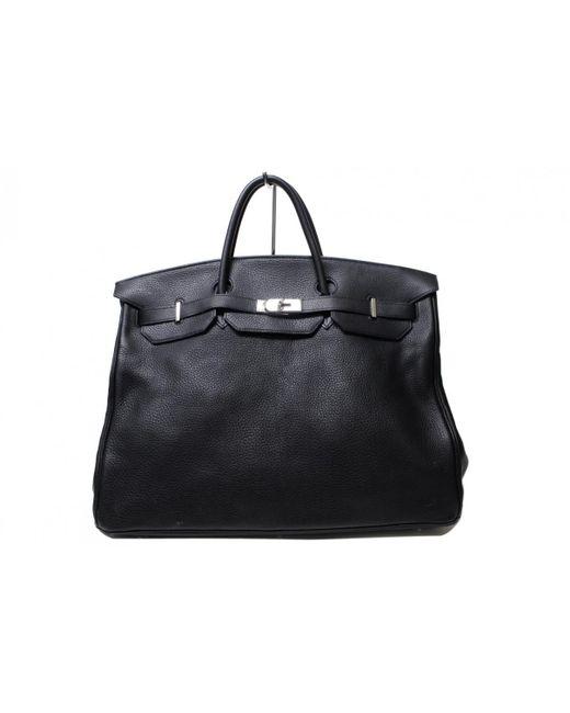 Lyst - Hermès Kelly Voyage Leather Travel Bag in Black 98605f8afee08