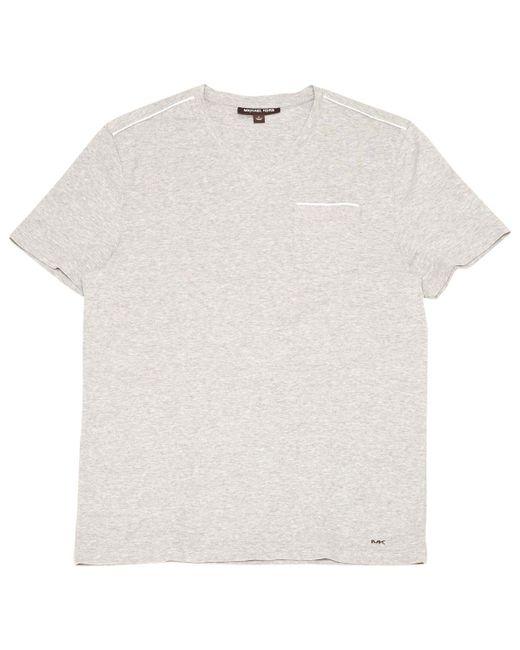 Michael Kors - Gray Grey Cotton T-shirt for Men - Lyst