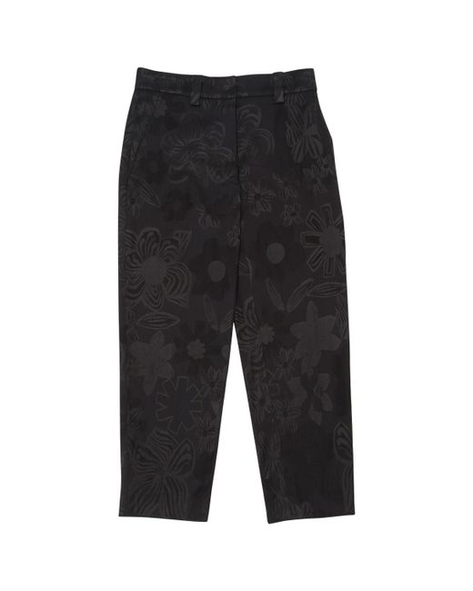 Acne - Black Wool Carot Pants - Lyst