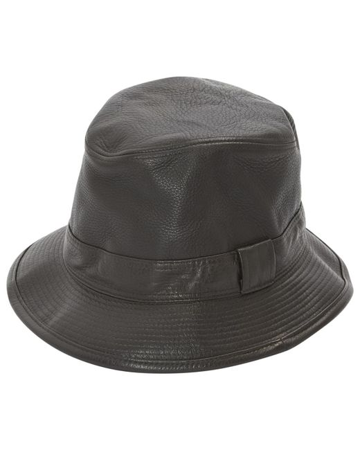 6dacc1bd892 Lyst - Hermès Brown Leather Hats   Pull On Hats in Brown for Men