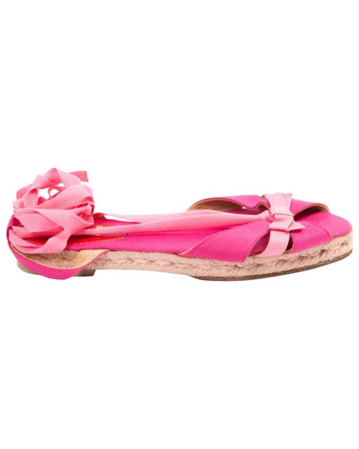Christian Louboutin | Pink Pre-owned Cloth Sandals | Lyst