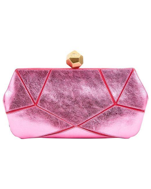 Roger Vivier - Pink Leather Clutch Bag - Lyst