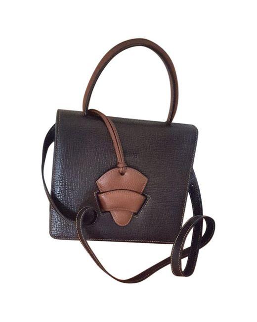 Loewe - Pre-owned Vintage Barcelona Black Leather Handbag - Lyst