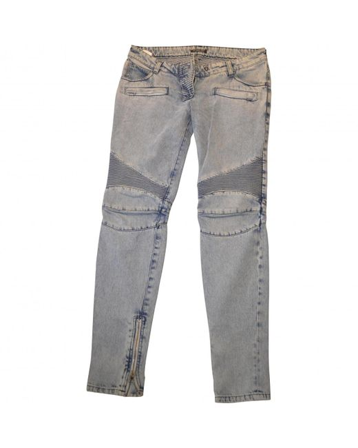 Balmain | Blue Stonewashed Jeans for Men | Lyst