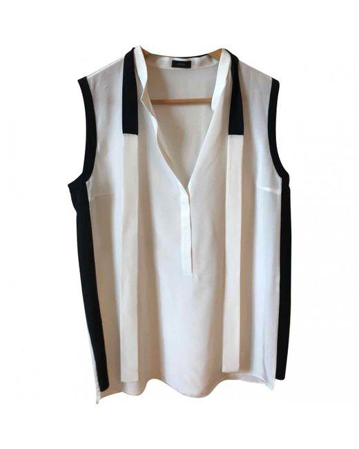 Joseph - White Silk Top - Lyst