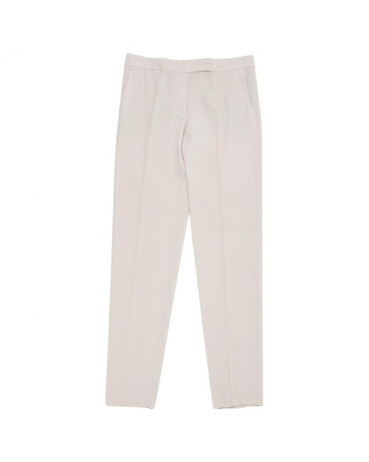 Chloé - Pink Pre-owned Wool Straight Pants - Lyst