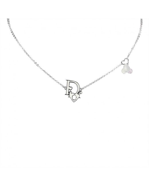 Dior - Metallic Pre-owned Oblique Necklace - Lyst