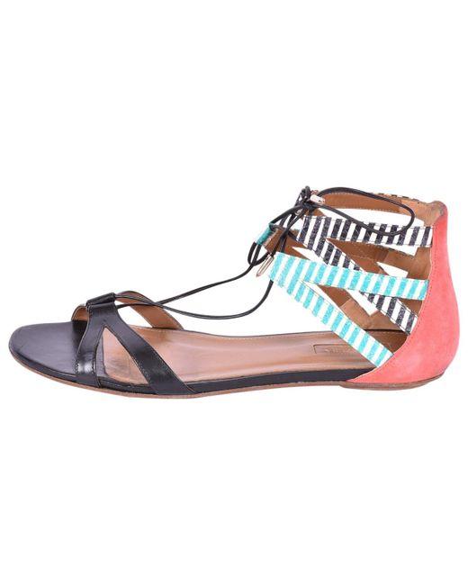 Aquazzura - Black Leather Sandals - Lyst
