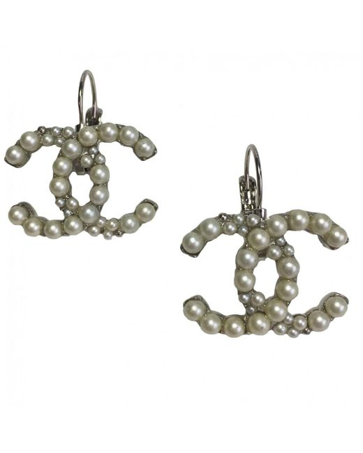 Chanel | Metallic Pre-owned Earrings | Lyst