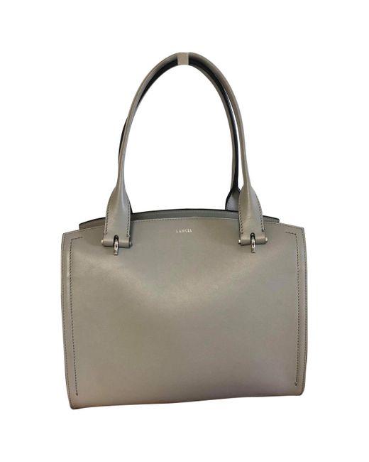 Lancel - Gray Leather Handbag - Lyst