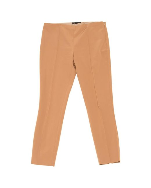 The Row | Natural Selip Silk And Wool-blend Shantung Wide-leg Pants | Lyst