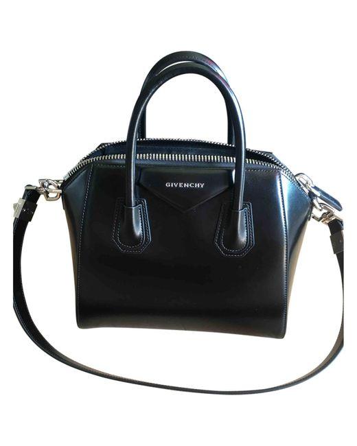 Givenchy | Black Pre-owned Antigona Leather Handbag | Lyst