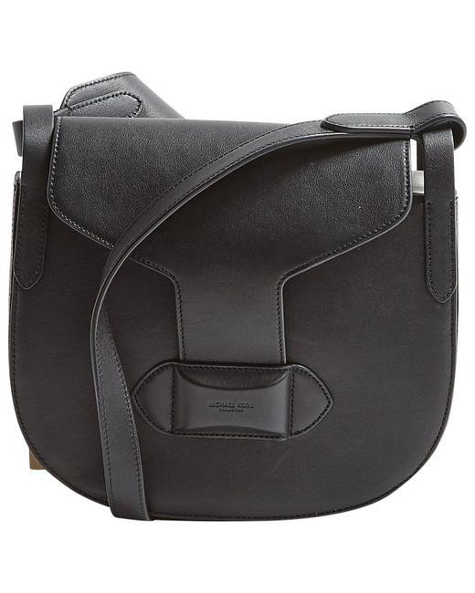 c5a38200dfb5 Michael Kors Black Leather Handbag in Black - Lyst