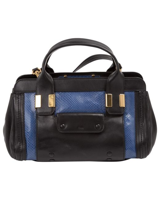 Chloé | Blue Pre-owned Alice Leather Mini Bag | Lyst